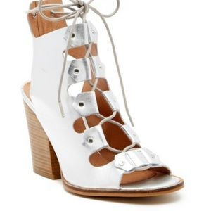 Shellys London Silver Leather Sandals